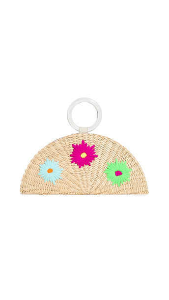 Poolside Bags Embroidered Croissant Bag in multi