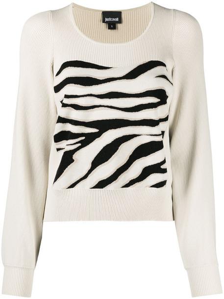 Just Cavalli zebra-pattern jumper in neutrals