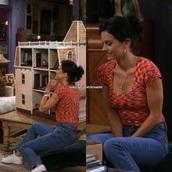 shirt,monica geller,monica,rachel,green,tv,television,show,series,hollywood,celebrity,friends