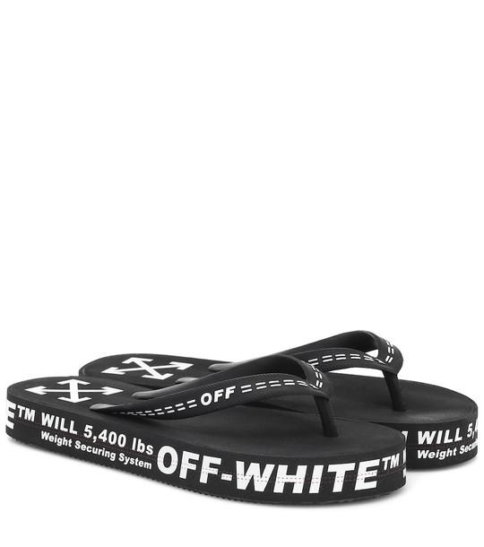 Off-White Logo rubber sandals in black