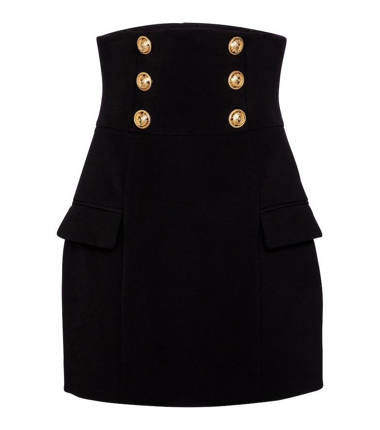 Balmain Crêpe miniskirt in black