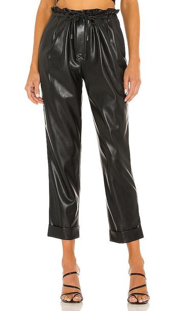 Alice + Olivia Alice + Olivia Liliana Vegan Leather Pant in Black