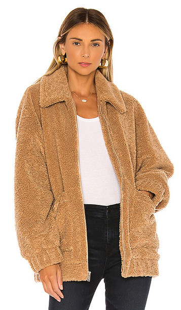 UGG Jackeline Teddy Bear Jacket in Brown