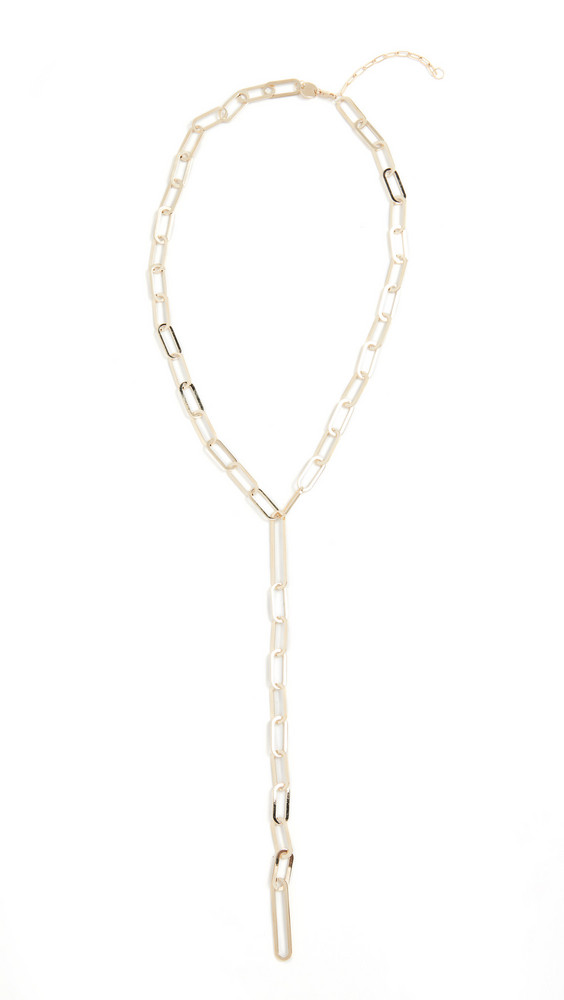 Jennifer Zeuner Jewelry Maurice Lariat Necklace in gold