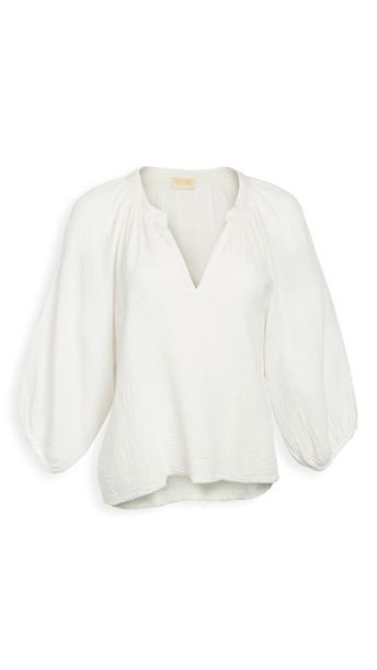 Nation LTD Mimi Romance Top in white