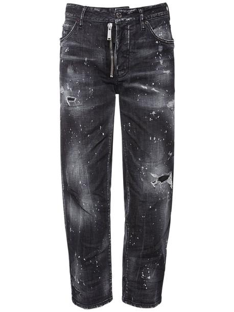 DSQUARED2 Boston Stretch Cotton Denim Jeans in black