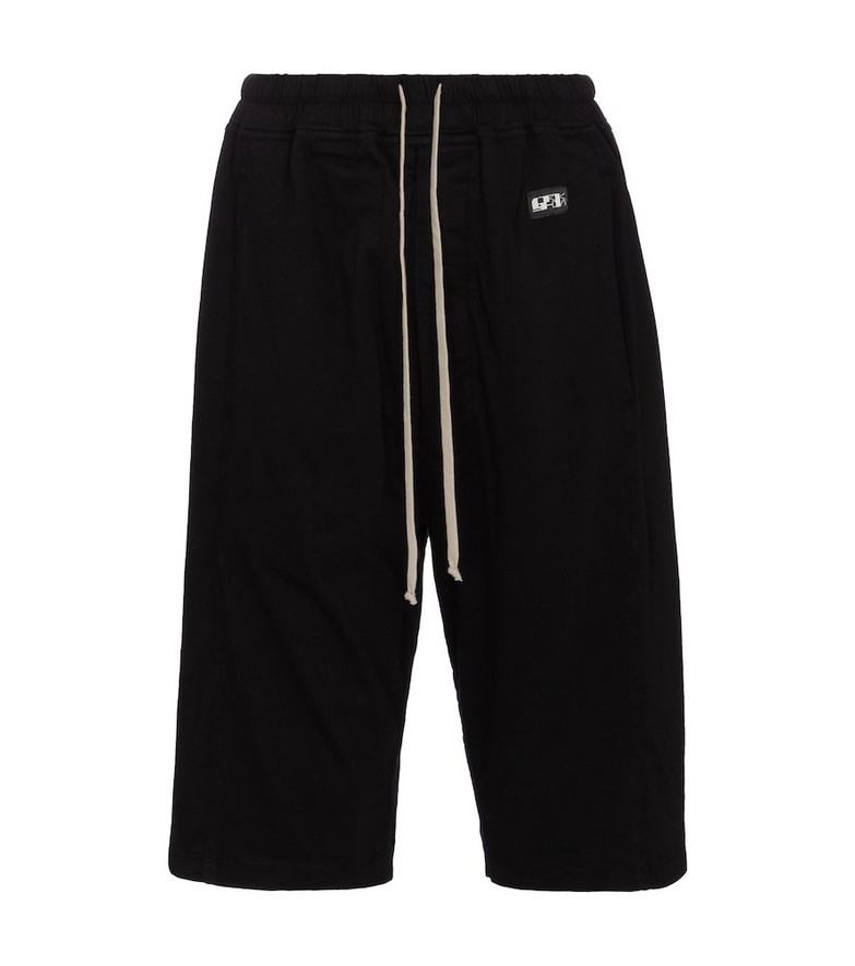 Rick Owens DRKSHDW cotton shorts in black