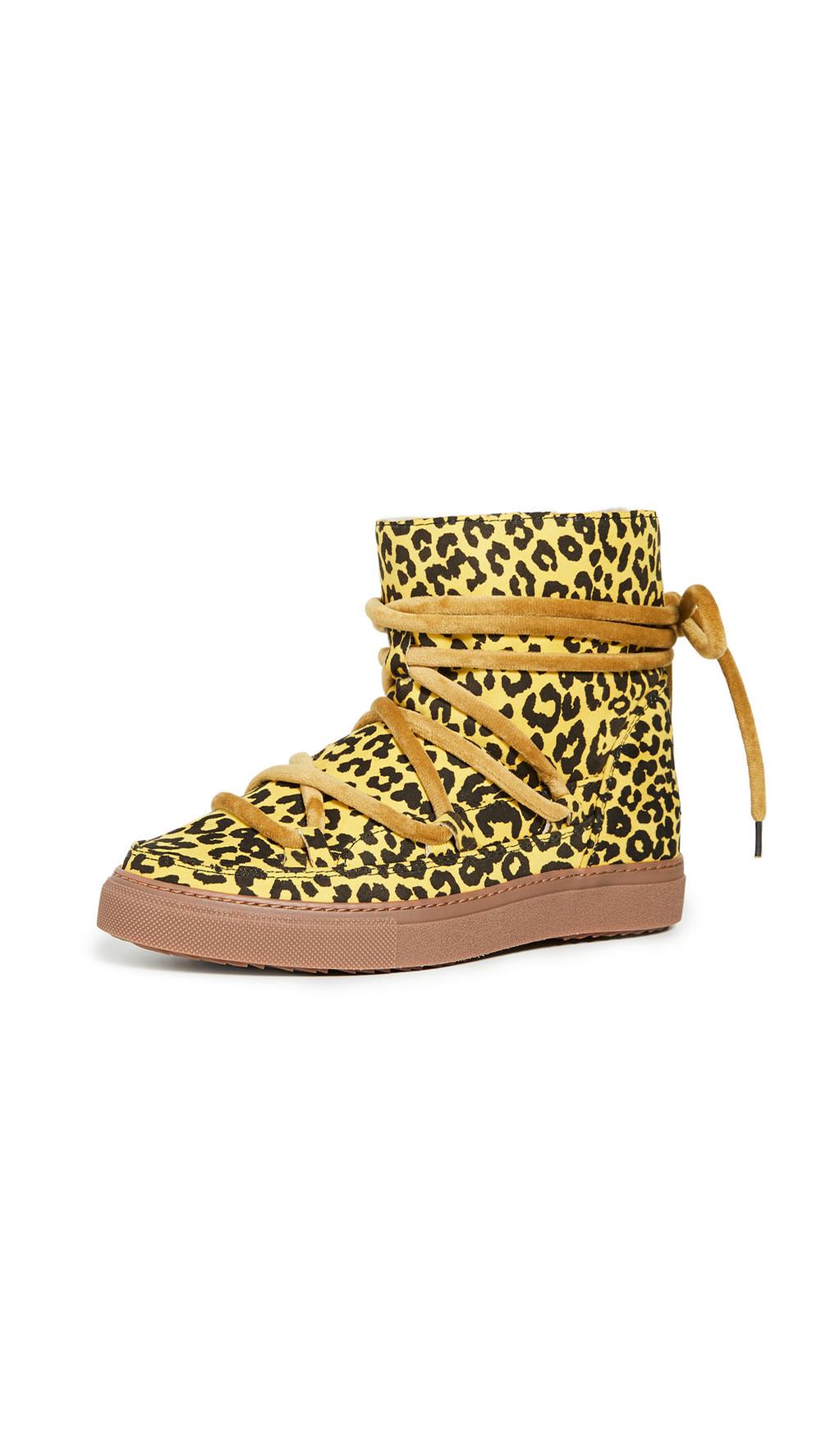 Inuikii Leo Shearling Sneakers in yellow