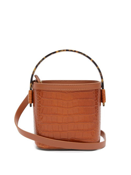 Nico Giani - Adenia Crocodile Embossed Mini Bucket Bag - Womens - Tan