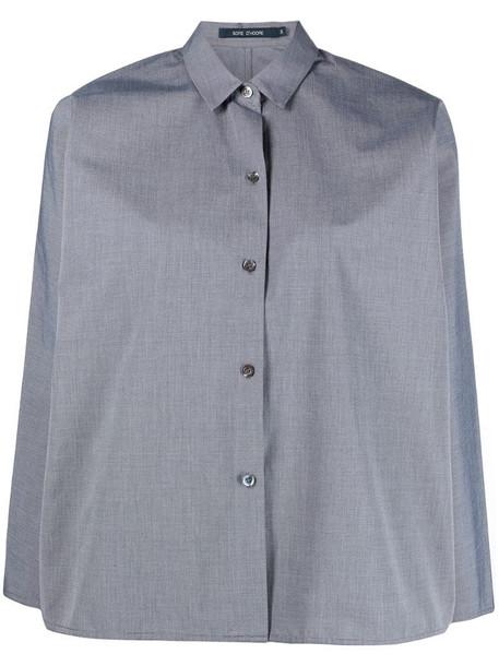 Sofie D'hoore straight-cut long-sleeve shirt in black