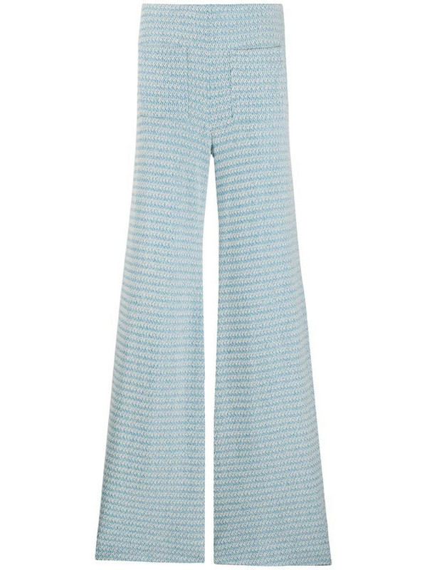 Hellessy knitted wide-leg trousers in blue