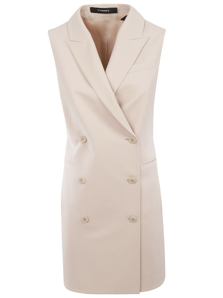 Theory Double Breasted Coat in pink