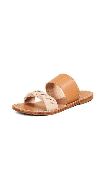 Soludos Braided Slide Sandals in brown