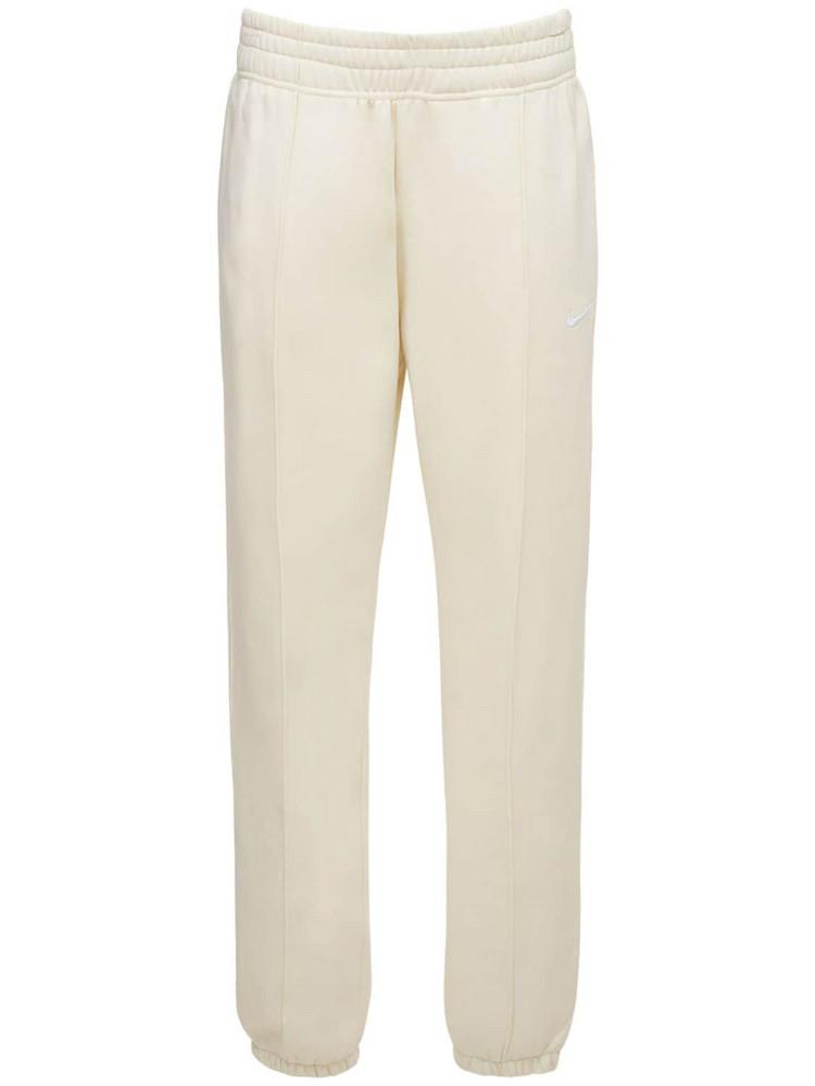 NIKE Cotton Fleece Sweatpants in beige