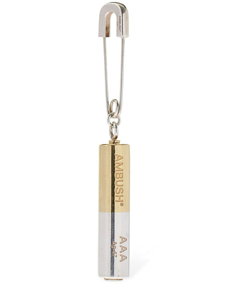 AMBUSH Battery Charm Mono Earring in gold / silver