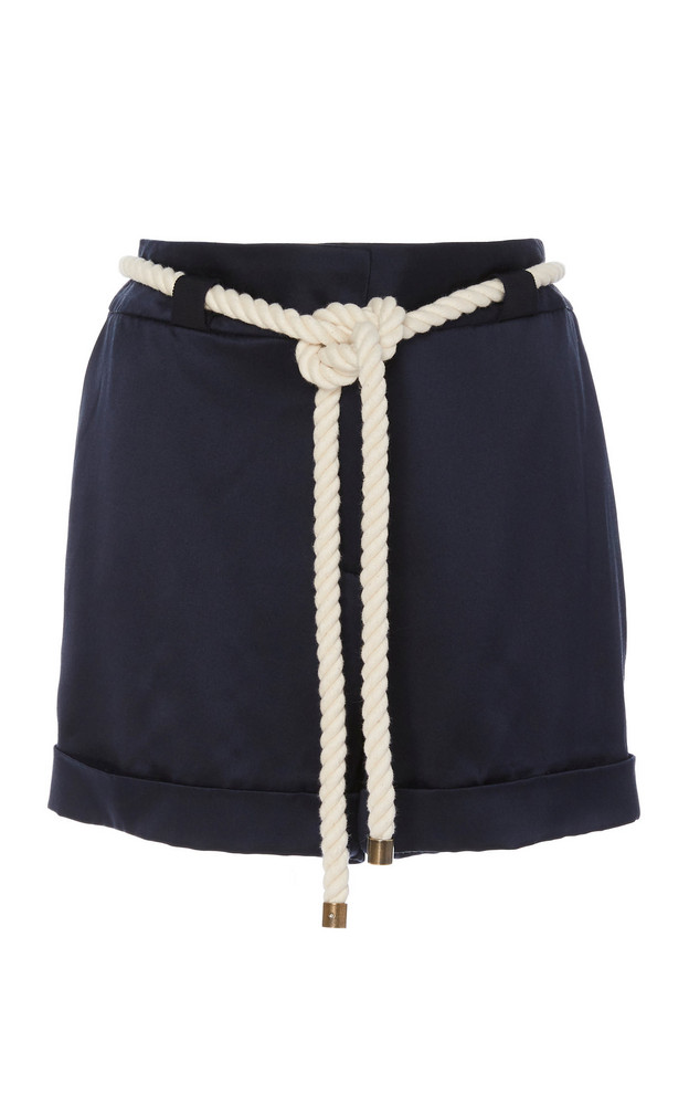MONSE Twill Trouser Shorts in navy