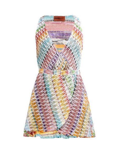 Missoni Mare - Knitted Cotton Blend Mini Dress - Womens - Multi