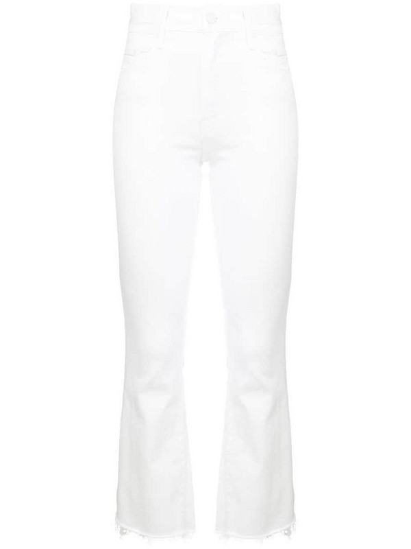 Mother skinny cropped jeans in white