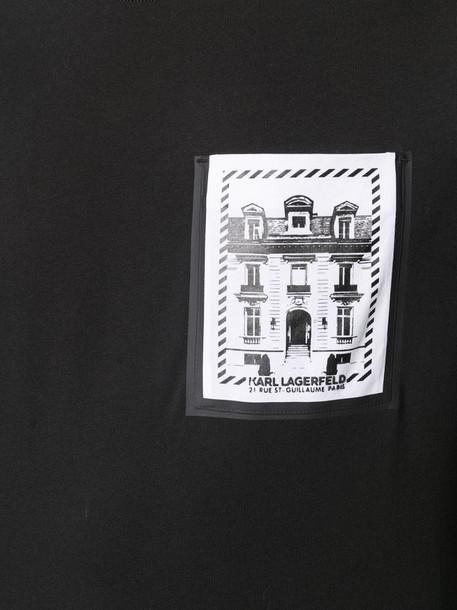 Karl Lagerfeld K/Maison Pocket cotton t-shirt in black