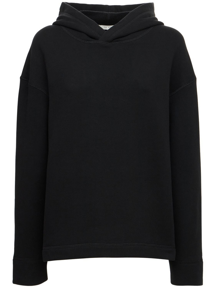 THE ROW Deugene Organic Cotton Jersey Sweatshirt in black