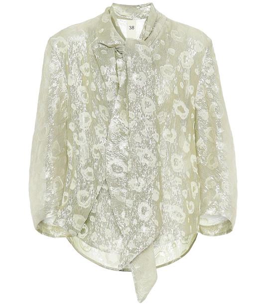 Petar Petrov Leopard fil coupé blouse in neutrals