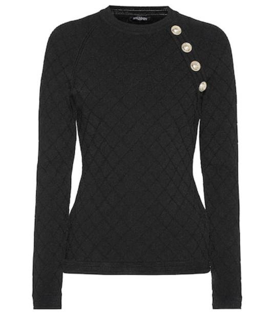 Balmain Jacquard sweater in black