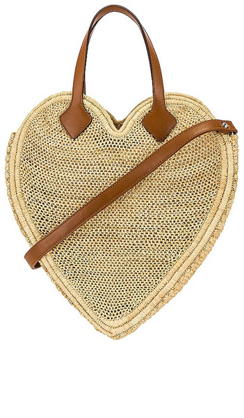 Poolside The Heart Beat Faster Tote Bag in Neutral in natural