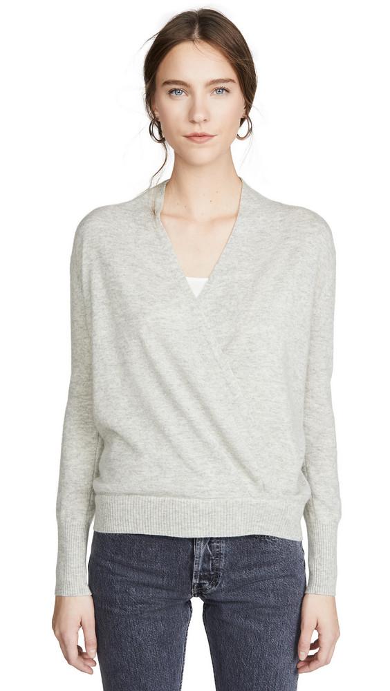 Brochu Walker Layered Wrap Pullover in grey