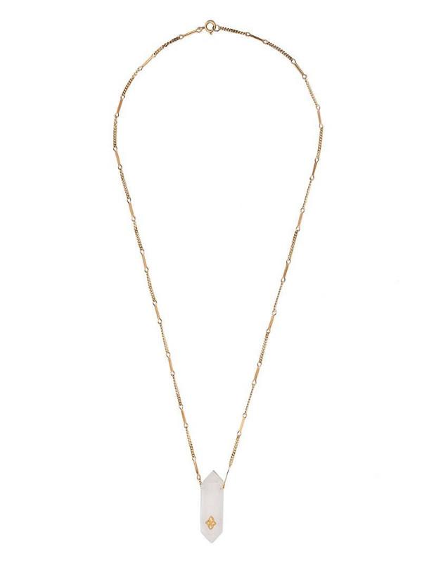 Pascale Monvoisin 9kt yellow gold diamond Prana Nº2 necklace
