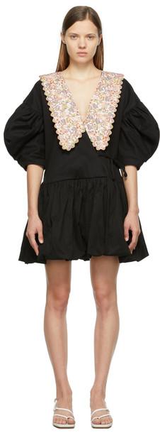 Kika Vargas Black & Pink Victoria Dress