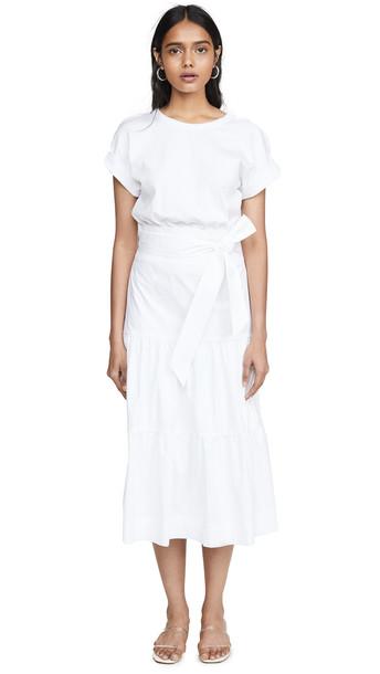 Veronica Beard Jean Trail Dress in white