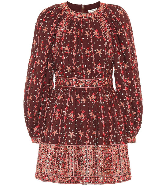 Ulla Johnson Daya linen and cotton dress in red