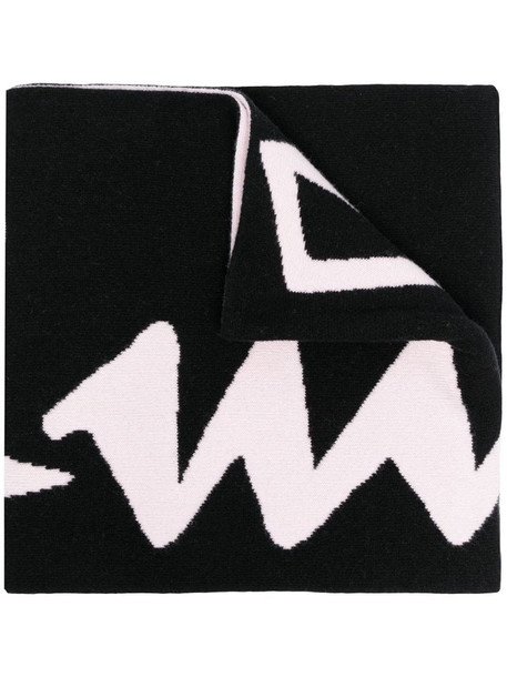 Off-White LOGO FELTED WOOL SCARF BLACK NUDE