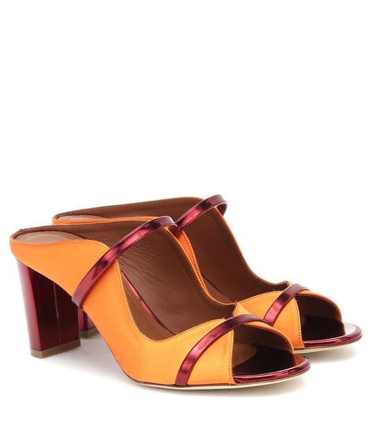 Malone Souliers Norah 70 satin mules in orange