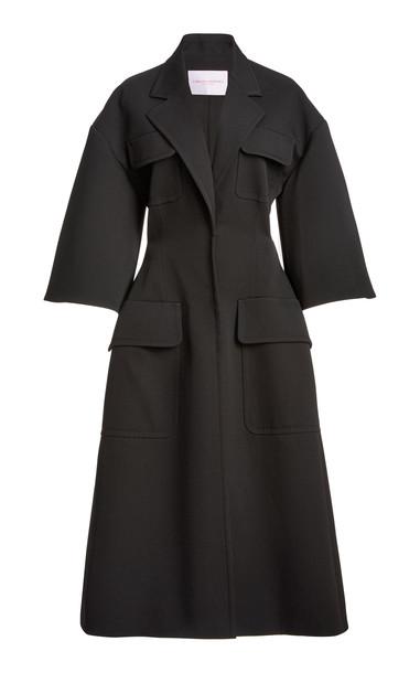 Carolina Herrera Structured Wool-Blend Jacket in black