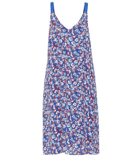 Rag & Bone Estell floral crêpe dress in blue
