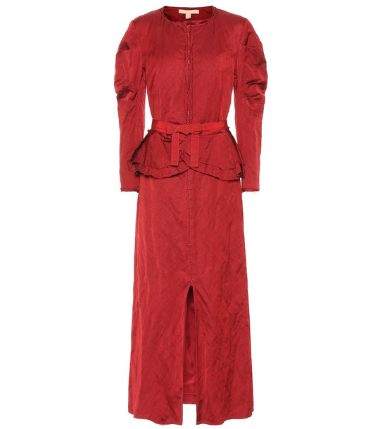 Brock Collection Pamela taffeta dress in red