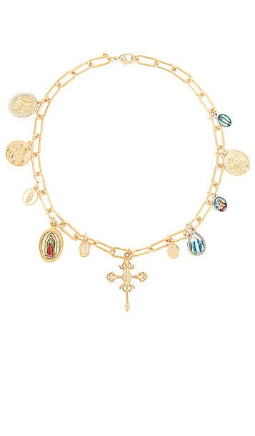 joolz by Martha Calvo Santo Necklace in Metallic Gold