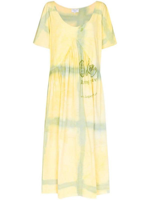 Collina Strada x Browns 50 Mariposa Princess tie-dye dress in yellow