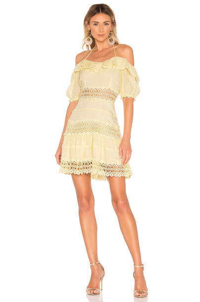 Free People Cruel Intentions Mini Dress in yellow
