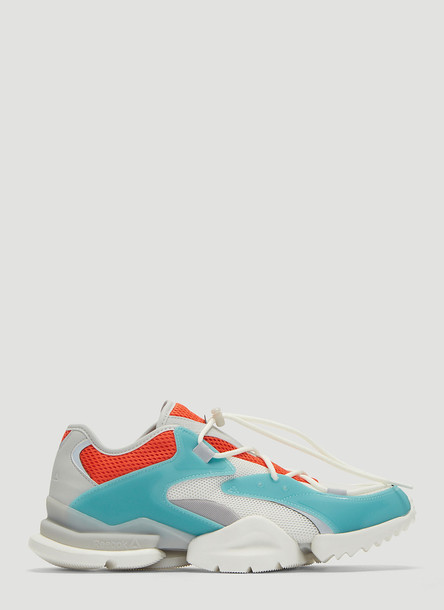 Reebok Run R 96 Sneakers in White and Blue size US - 12