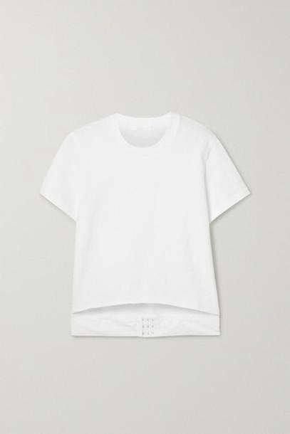 Helmut Lang - Cutout Cotton-jersey T-shirt - White