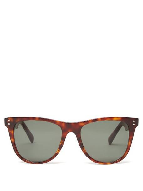 Celine Eyewear - Tortoiseshell Effect D Frame Acetate Sunglasses - Womens - Tortoiseshell