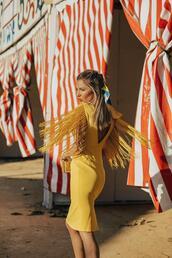mi aventura con la moda,blogger,dress,jewels,yellow dress