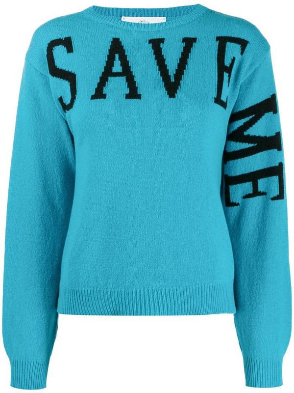 Alberta Ferretti Save Me jumper in blue