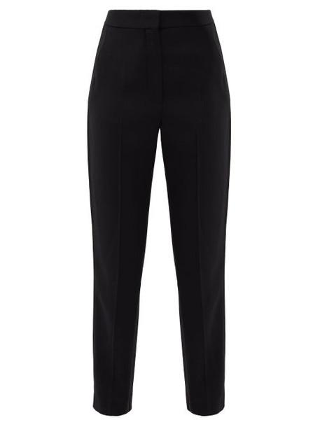 Roksanda - Colwyn Side-stripe Twill Trousers - Womens - Black