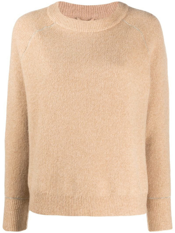 Max & Moi raglan-sleeved sweater in brown