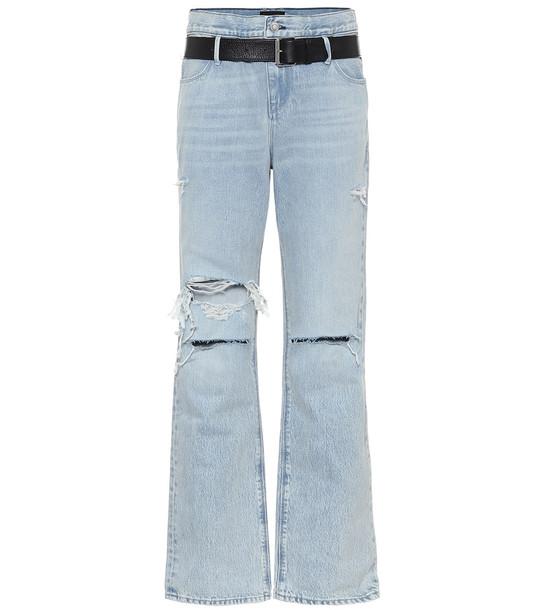 RtA Dexter high-rise boyfriend jeans in blue