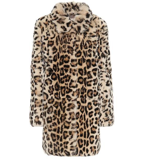 Yves Salomon - Meteo Leopard-print fur coat in brown