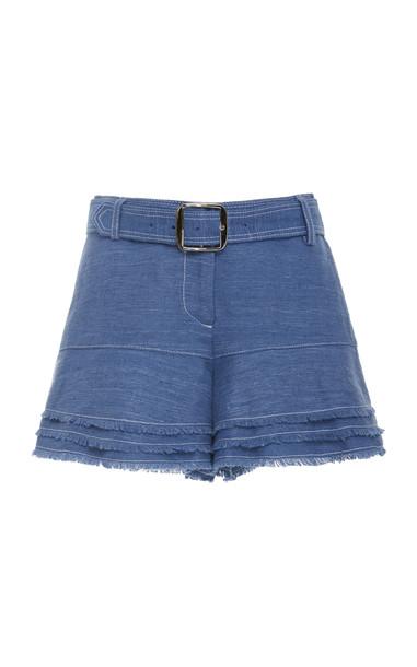Alexis Jaymes Cotton Fringe Shorts Size: XS in blue